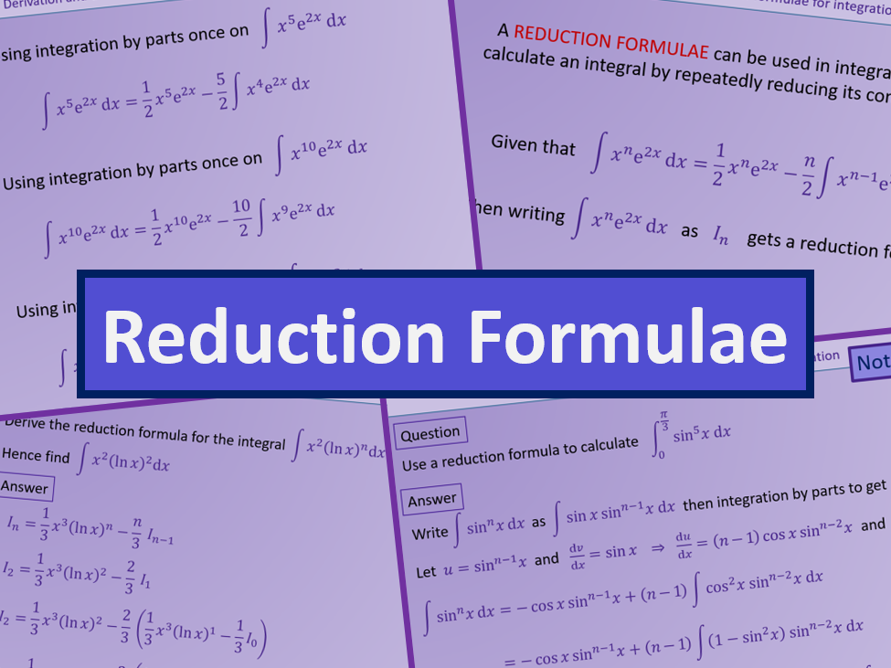 Reduction formula - Further maths A level A2