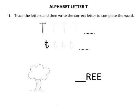 Learning and Writing Letter T  for Year 1 Students