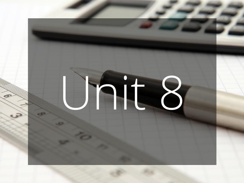 Unit 8 - Personalised Learning Checklist (PLC) - GCSE Edexcel Maths (Higher)