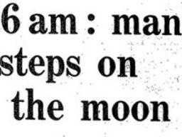 Moon Landings 1969 Newspaper texts