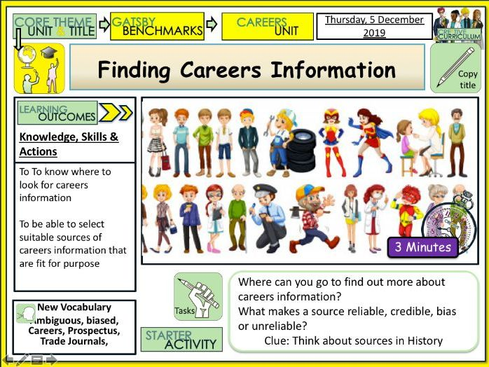 Finding Careers Information - Jobs Careers