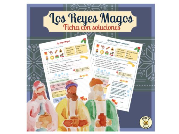 El día de Reyes ficha con soluciones- The Three Wise Men day- worksheet - Los Reyes Magos