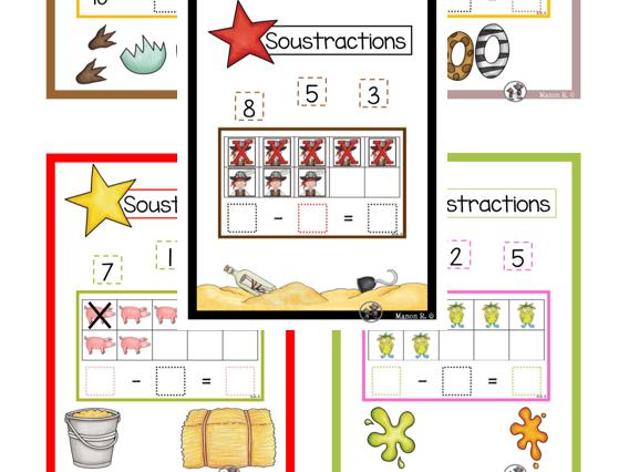 Soustractions (Ensemble complet) Subtraction Bundle