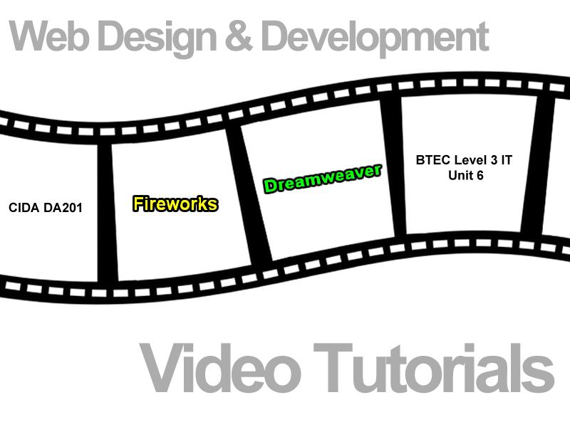 CIDA - Selection of DreamweaverCS5.1 /Fireworks CS5.1 videos using tools [no sound]