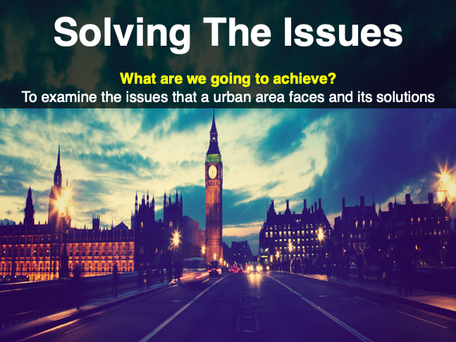 IGCSE/GCSE Urban Issues and Solutions - Traffic and Housing