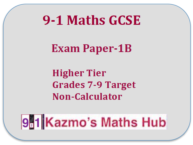 9-1 Maths Exam Paper -1B