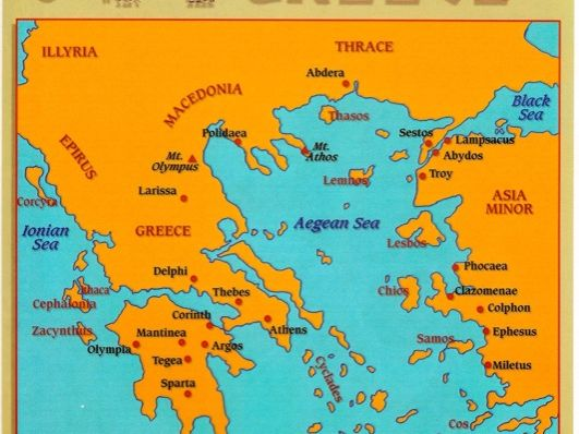 Geography Ancient Greece - To use an atlas or globe to locate countries and describe features