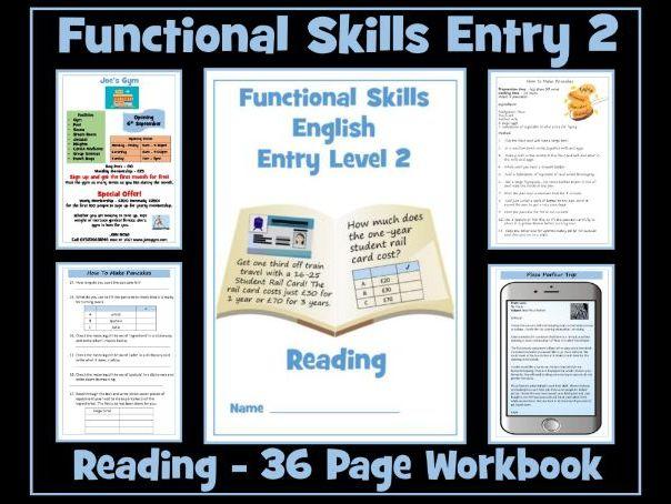 English Functional Skills Entry Level 2 Reading Workbook