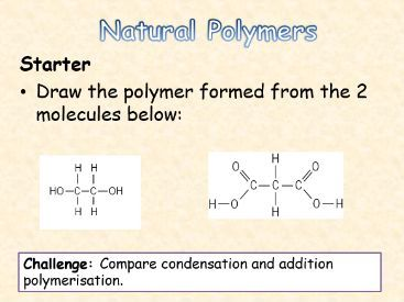 AQA Topic 11 Natural Polymers