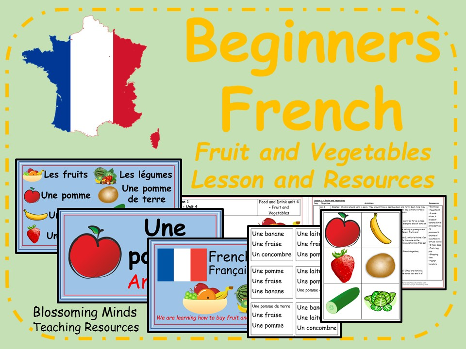 French lesson and resources - Fruit and Vegetables