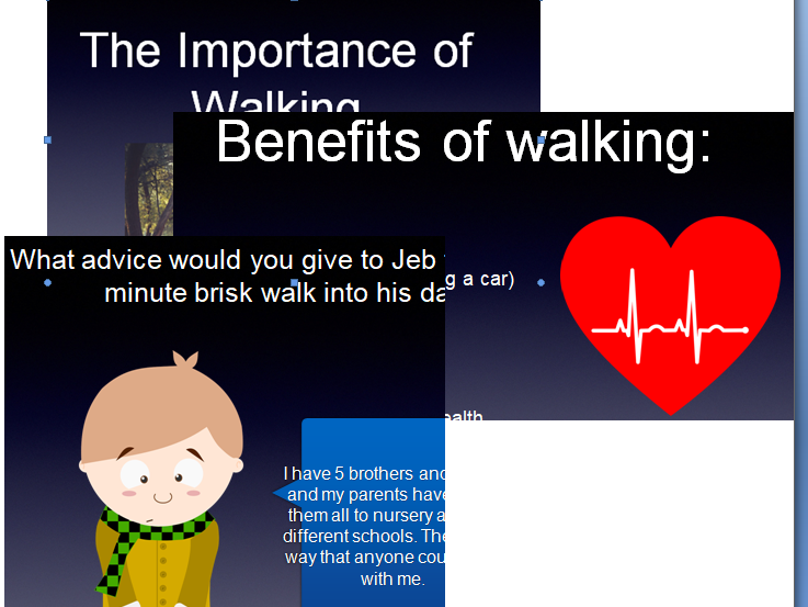 Walking Assembly could be used for National Walking Month (May)
