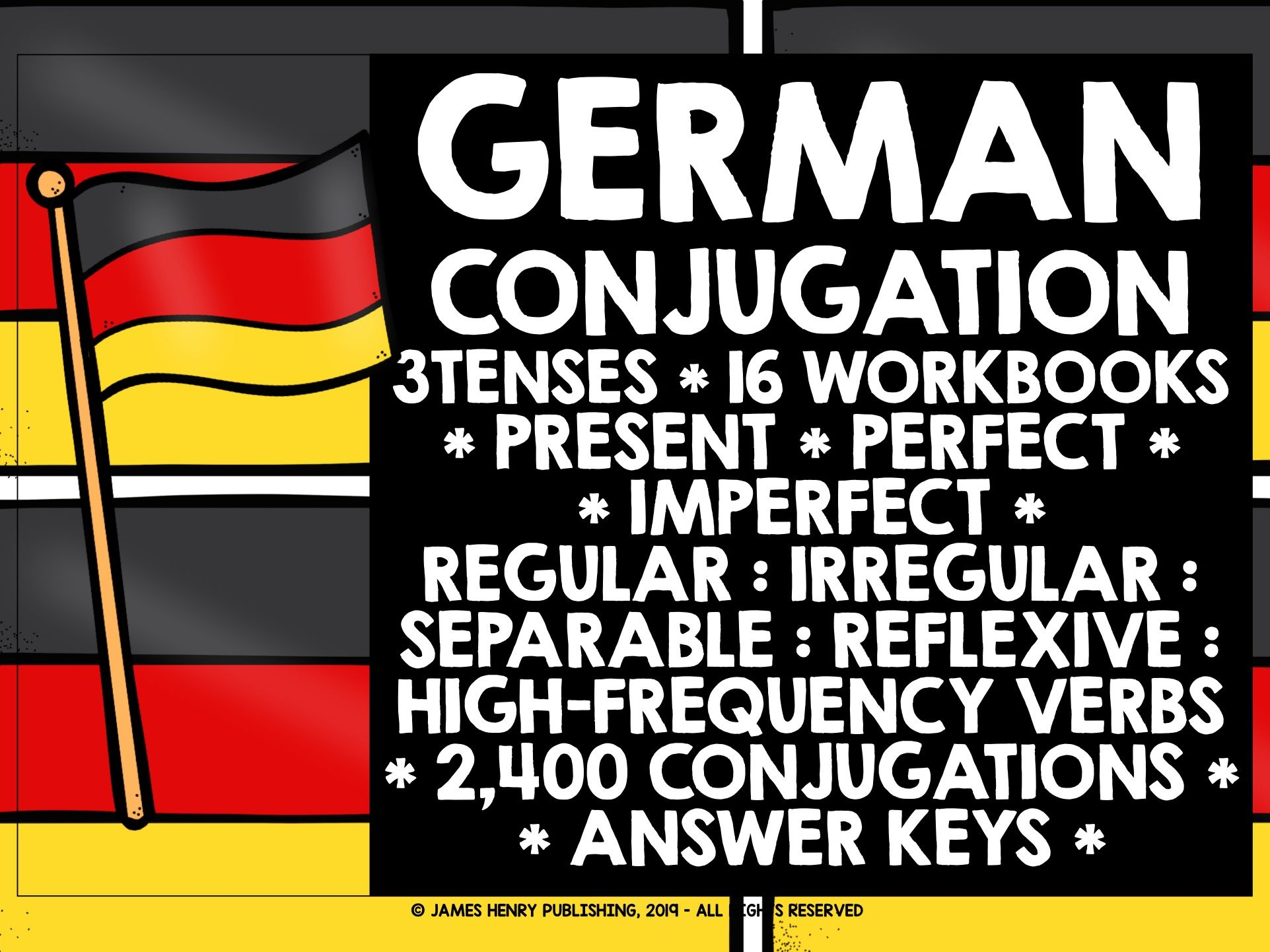 GERMAN GCSE VERBS CONJUGATION PRESENT, PERFECT, IMPERFECT TENSES