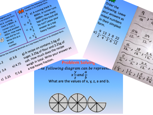 New Curriculum: Mixed Number/Improper Fractions Lesson
