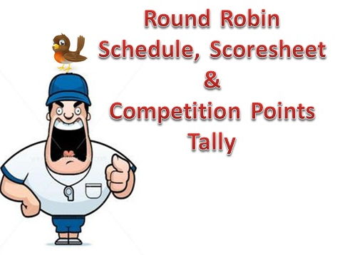 Round Robin Competition Brackets with Score and Points Tally