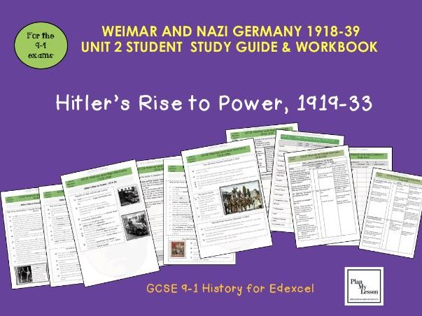 Edexcel 9-1 GCSE - Weimar and Nazi Germany Student Revision Guide UNIT 2