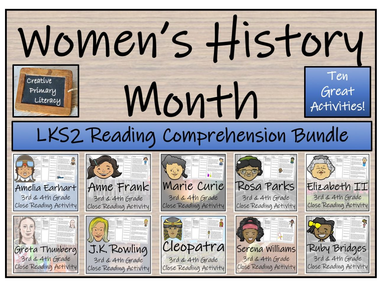- LKS2 Women's History Month Bundle Of 10 Reading Comprehension