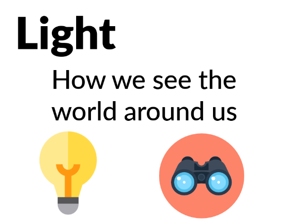 Light - How our eyes see the world [Years 3, 4, 5]