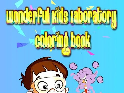 Wonderful Kids Laboratory Coloring book