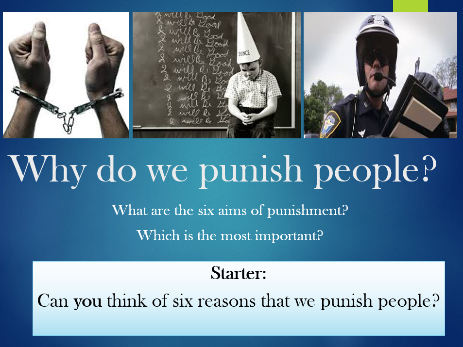 The six aims of punishment