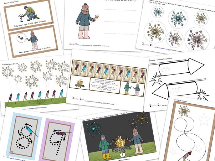 Bonfire Night Resource Pack / Bundle Containing 20 Resources