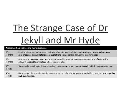 AQA Dr Jekyll and Mr Hyde Complete Notes