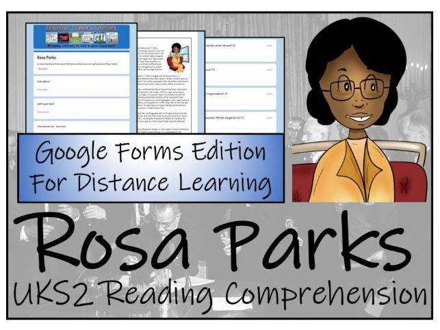 UKS2 Rosa Parks Reading Comprehension & Distance Learning Activity