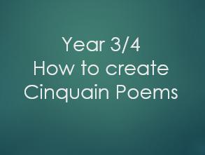 Year 3/4 - Cinquain Poem