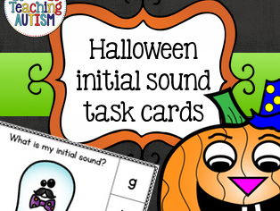 Halloween Activities - Initial Sound Task Cards