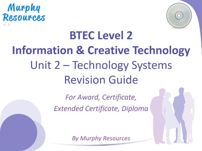 BTEC L2 Information & Creative Technology - Unit 2 (Free Sample)