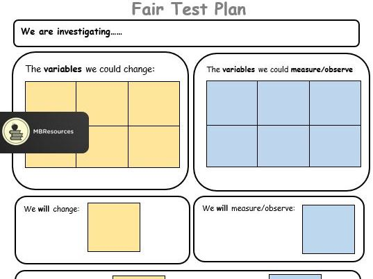 Science Fair Test Plan