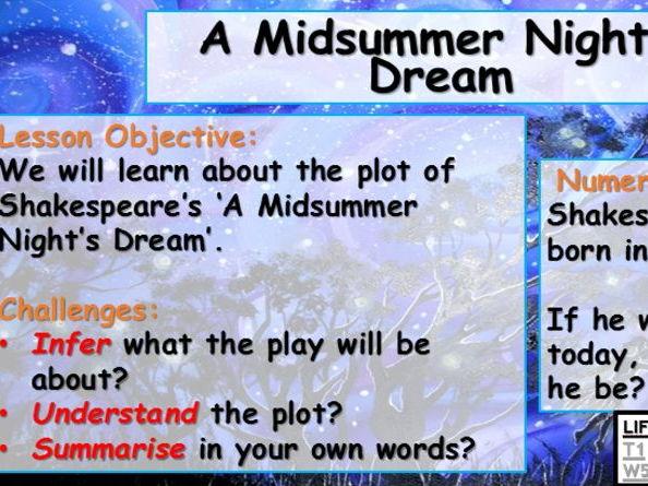 Lesson 1 - A Midsummer Night's Dream - Plot Summary