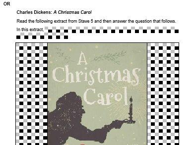 A Christmas Carol  Mock Exam Questions - AQA - Stave 5