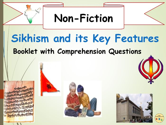 Sikhism  and The 5 Ks Non-Fiction Reading Comprehension Assessment Revision