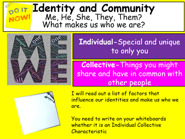 Identity and Community-Lesson and Workpack