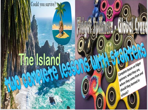 The Island Survival Diary and Fidget Spinners Double Pack with Starters