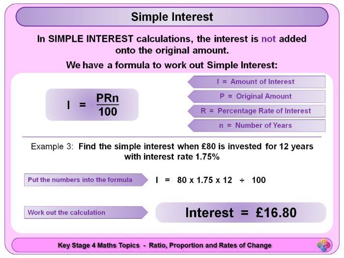 Simple Interest KS4