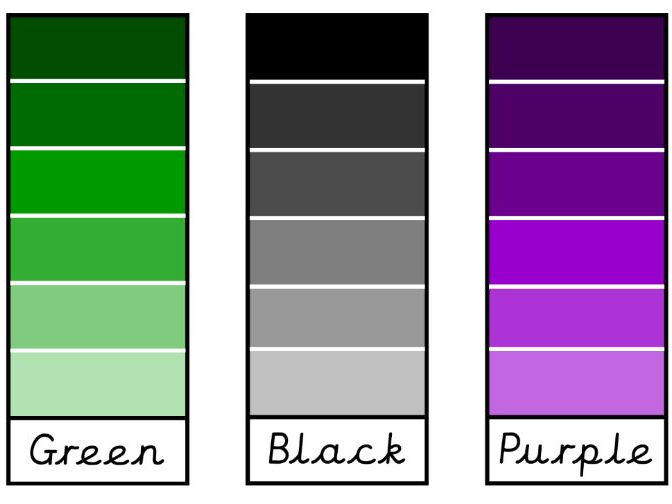 Shade/Tint Paint Swatches