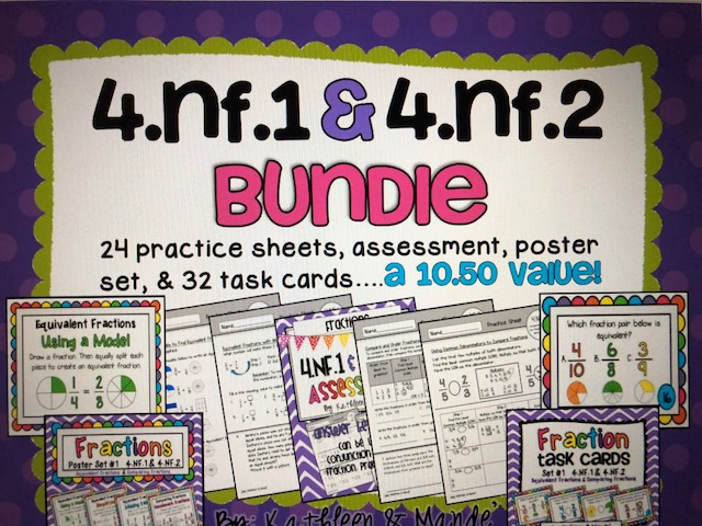 4.NF.1 & 4.NF.2 Bundle: Equivalent Fractions & Comparing Fractions