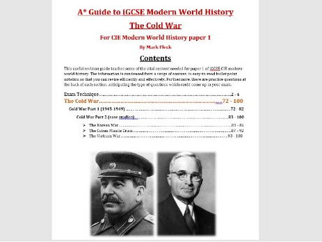 The Cold War iGCSE CIE revision guide