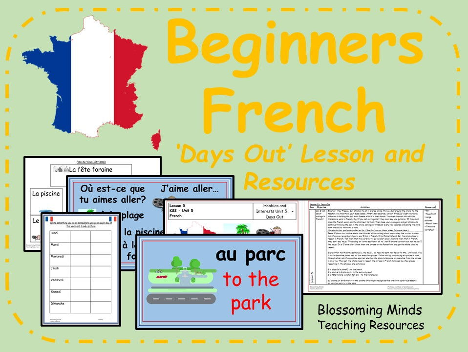 French lesson and resources - KS2 - Days out
