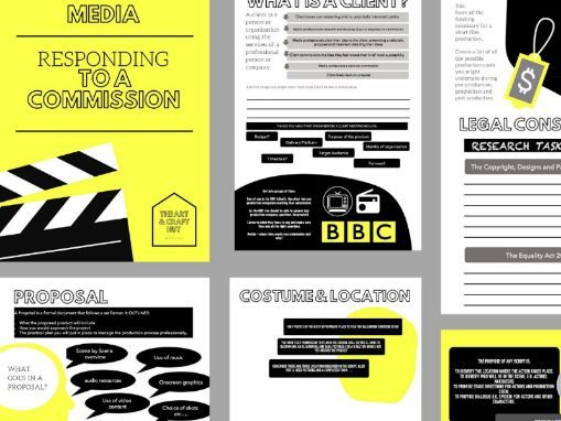 37 Page Workbook | Responding To A Media Commission (Moving Image) |
