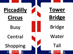 London Attractions Taboo Cards