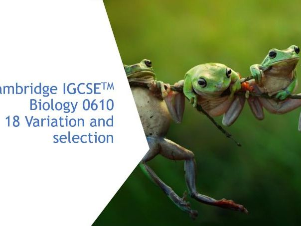 Cambridge IGCSE Biology 0610, 18 Variation and selection