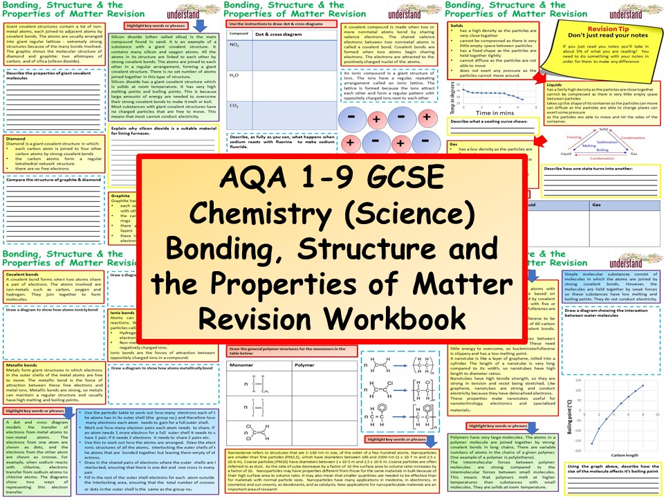 Aqa 1 9 gcse chemistry science bonding structure and the cover image urtaz Choice Image