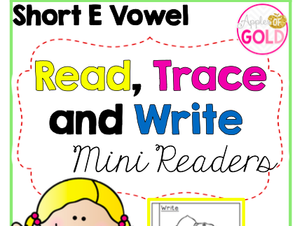Read, Trace and Write Booklets - CVC Short e Vowel- Mini Readers