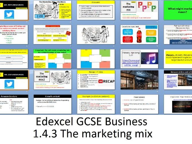 Edexcel GCSE Business - Theme 1 - 1.4.3 The marketing mix