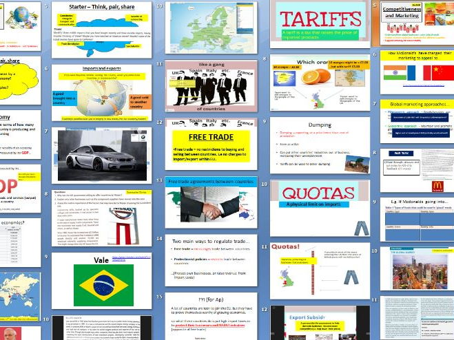 Edexcel A Level Business Theme 4.1 and 4.2 Globalisation and global markets
