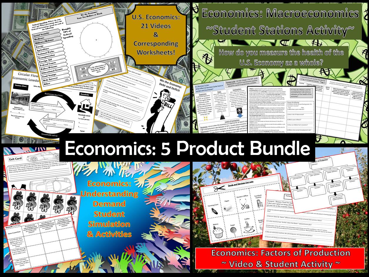 U S  Economics: Factors of Production Student Activity