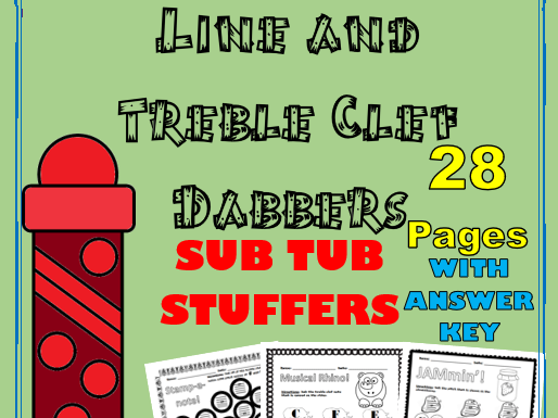Dabbers: Line and Treble Clef Theory Worksheets