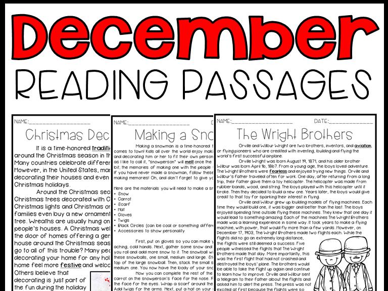 Leveled Text: December